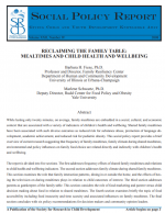 Reclaiming the Family Table: Mealtimes and Child Health and Well-being