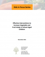 Effective Interventions to Increase Vegetable and Fruit Consumption in School-Aged Children