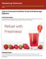 Tips to Promote Healthier Food and Beverage Options
