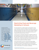 Restricting Food and Beverage Marketing in Schools