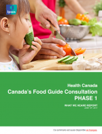 Canada's Food Guide Consultation PHASE 1 – What We Heard Report