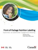 Front-of-Package Nutrition Labelling – September 18 Stakeholder Engagement Meeting