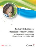 Sodium Reduction in Processed Foods in Canada: An Evaluation of Progress toward Voluntary Targets from 2012 to 2016