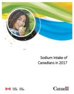 Sodium Intake of Canadians in 2017