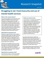 Struggling to eat: Food insecurity and use of mental health services