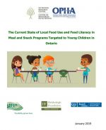 The Current State of Local Food Use and Food Literacy in Meal and Snack Programs Targeted to Young Children in Ontario
