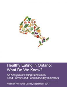 Healthy Eating in Ontario: What Do We Know?