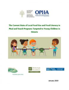 NRC OPHA Current State of Local Food Awareness in Meal and Snack Programs