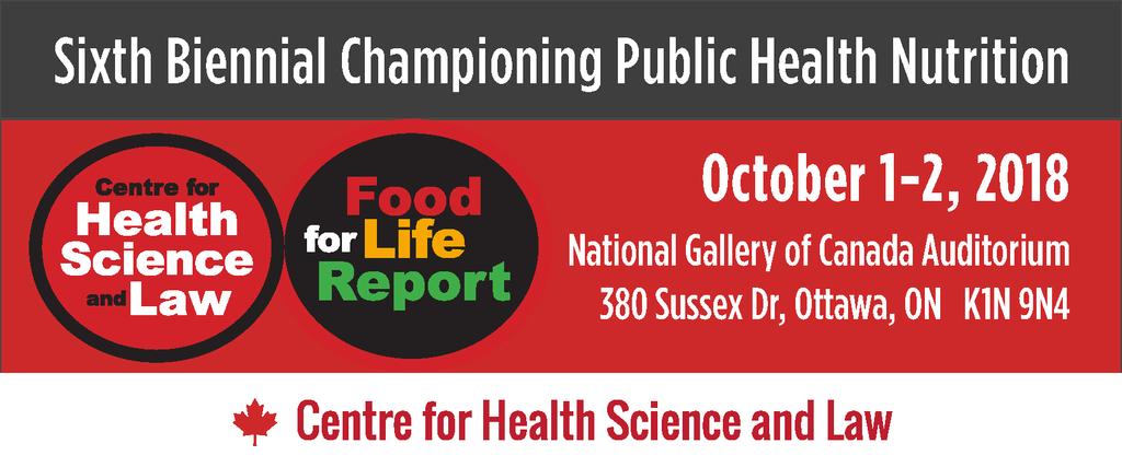 Sixth Biennial Championing Public Health Nutrition Conference