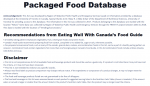 Packaged Food Database