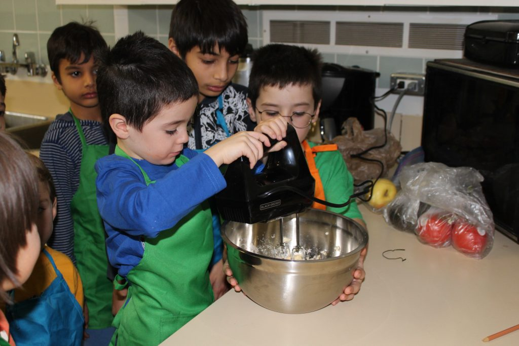 Children preparing food