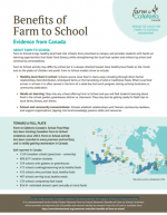 Benefits of Farm to School: Evidence from Canada