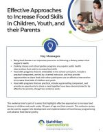 Effective Approaches to Increase Food Skills in Children, Youth, and their Parents