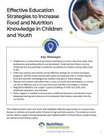 Effective Education Strategies to Increase Food and Nutrition Knowledge in Children and Youth
