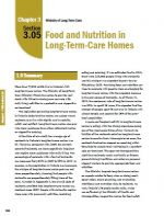 Food and Nutrition in Long-Term Care Homes