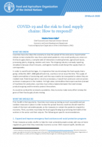 COVID-19 and the risk to food supply chains: How to respond?